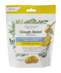 Cough Relief Organic Cough Drops, Meyer Lemon and Honey Flavor