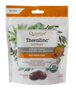 TheraZinc Organic Lozenges, Blood Orange Flavor