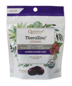 TheraZinc Organic Lozenges, Elderberry
