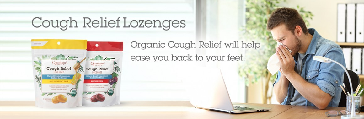 Cough Relief Lozenges - Organic Cough Relief will help ease you back to your feet.