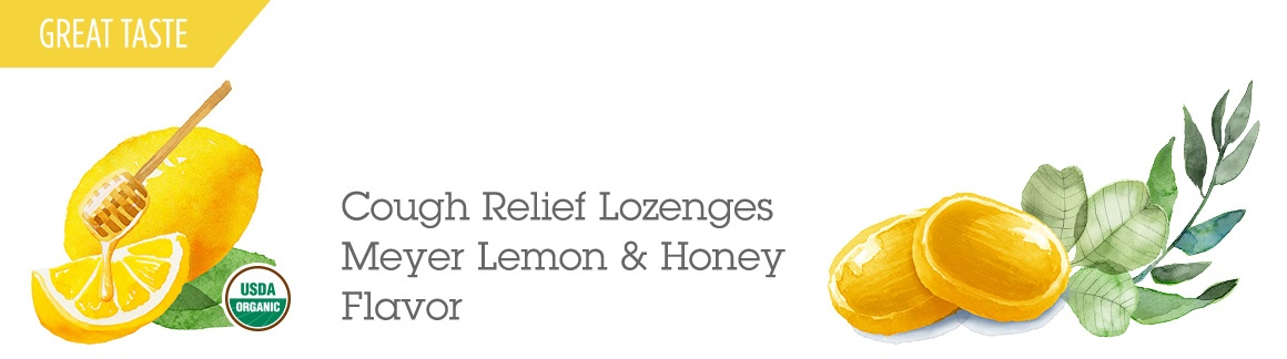 Cough Relief Lozenges - Meyer Lemon and Honey Flavor
