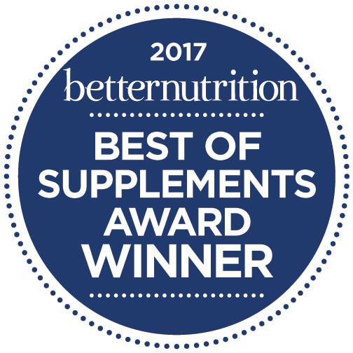 2017 Betternutrition Best Of Supplement Award Winner