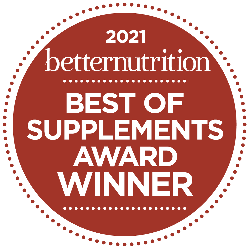 2021 Better Nutrition Best of Supplements Award Winner