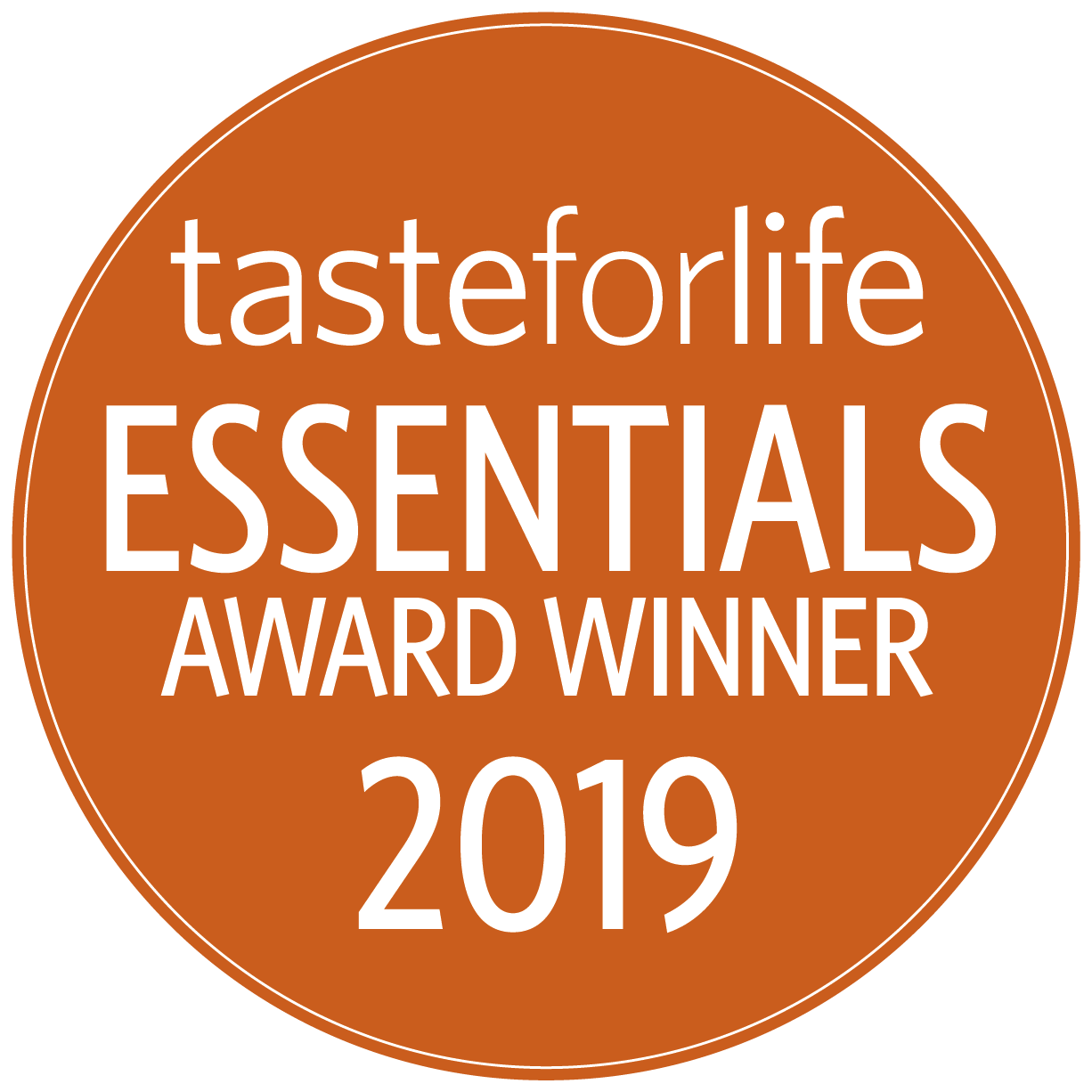 2019 Taste for Life Essentials Award Winner