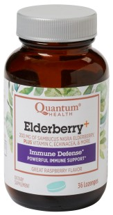Elderberry supplement formulated with other immune boosting ingredients.