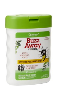 Travel Friendly, DEET-Free Insect Repellent Wipes; Family Friendly, Plant Based. Repel Mosquitoes and Ticks