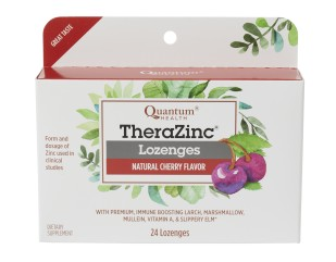 TheraZinc® Lozenges are a refreshing and soothing way to meet immune challenges. You also benefit from a proprietary blend of throat comfort herbals including slippery elm and mullein leaf.*