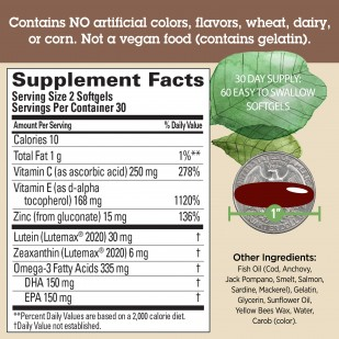 Image: Supplement facts panel